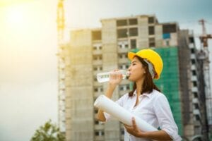 How much water should you drink varies if you work outdoors.